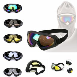 Wholesale Sunglasses Snowboard - Motorcycle Goggles Cycling Windproof Dustproof Outdoor ski Snowboard Sun Glasses UV400 Sunglasses Cycling Motocycle 5 COLORS FFA116 20PCS