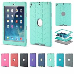 Wholesale Ipad Mini Kids Covers - For iPad mini3 4 5 6 Air2 for iPad Pro Retina Kids Baby Safe Armor Shockproof Heavy Duty Silicone Hard Case Cover