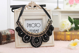Wholesale false abs - whole saleWith Chain-Plastic-ABS Plating Beads,Length:Free adjustment 2015 False Collar Necklaces Chokers Necklaces Black Crystal