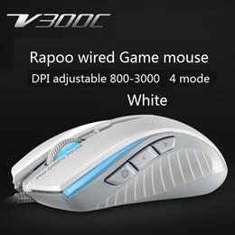 ordinateurs portables notés Promotion RAPOO V300C 3000dpi filaire souris optique de jeu avec la vitesse de déplacement 30ips 8G souris d'accélération pour ordinateur portable de bureau jeu FPS évalué