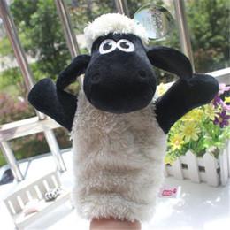 marionetas de mano Rebajas Al por mayor-Oveja Lovely Hand Zoo Learn Toy Glove para niños niños marioneta de mano venta caliente