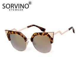 Atacado Retro Metade Quadro Pico Cat Eye Sunglasses Mulheres Marca Designer  Semi-rim Glitter Rose Gold Cat Eye Óculos de Sol Shades SP45 cheap  wholesale ... 983047fe4a
