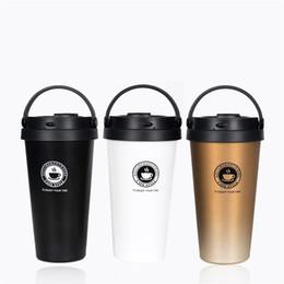Wholesale Metal Tumblers - Stainless Steel Vacuum Cup Outdoors Portable Water Bottles Creative Coffee Mug Leak Proof Tumbler Multi Color 30st C