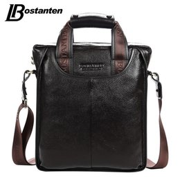 Wholesale Genuine Laptops - 2017 Hot Sale Genuine Leather Business Briefcase Portable Laptop Handbag Casual Purse Sacoche Homme Marque Crossbody