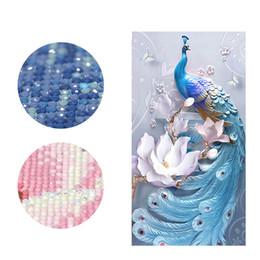 stich perle Rabatt Peacock DIY Diamant Malerei Spezielle Blumen Diamant Stickerei Voller Kreuzstich Diamant Mosaik Perle Bild Home Decor