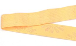 Larghezza 25mm Accessori strisce di tessuto a motivi gialli cinturini in gomma morbida / addensati attaccati alla banda elastica nazionale SCS2162-25W1 3000 m / lotto da vestiti di ananas per bambini fornitori