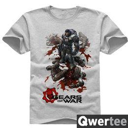 Wholesale Gears Wars - Gears of War short sleeve women men cotton t-shirt