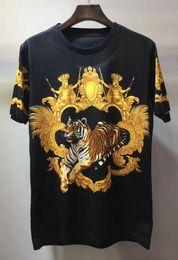 O europeu 3d imprimiu camisetas on-line-2018 novo tshirt do verão europeu designer tigre aristocrático 3d impresso t-shirts de algodão homens casual mulheres t-shirt tops tee