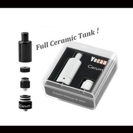 Wholesale Real Tanks - 100% Real Yocan Cerum Ceramic Atomizer Wax Vaporizer Tank With QDC Coil Fit For Yocan Evolve Kit In Stock 1pc