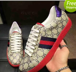 Wholesale Mandarin Ducks - 2018 Europe station new trend classic G print sport casual men's shoes red heel blue red mandarin duck size 38--44