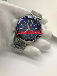 Wholesale F1 White - Clone Luxury Brand High Quality Heuer F1 Chronograph Quartz CAZ1014.BA0842 Mens Watch Blue Dial Stainless Steel Bracelet Gents Watches