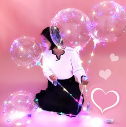 2018 Led Balloon Colorful BOBO Balloons Party Decorations Weddings Decoration Birthday Christmas Holiday Suplies Light Up Kid Gift Toys Coupons
