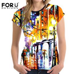 Wholesale eiffel shirt - FORUDESIGNS Sport T-shirt for Women Yoga Sports Shirt Women's Quick Dry Fitness Eiffel Tower Printing Female T Shirt Sportswear