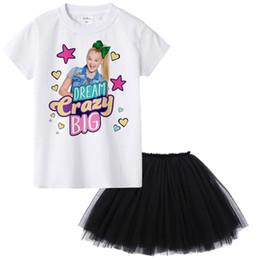 vestidos de tutú para niñas 12 años Rebajas 1Y a 12Y Jojo Siwa Girl Summer Set de ropa Ropa de moda para niños Traje Tops + Tutu Falda Vestido 2 Unids Roupas Infantis Menina Y1892707