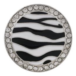 2020 jóias zebra Listras da zebra Botão Snap jóias Mix Resina Pedras Rodada De Metal 18 MM Snap Botões Fit PulseiraMulheres Jóias DIY desconto jóias zebra