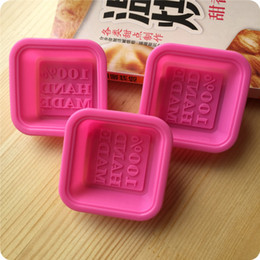 Wholesale Square Baking Moulds - Square Silicone Soap Mold High Temperature Resistant Cake Baking Moulds 100% Hand Made Silica Gel Mold Pink 1bea B