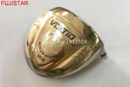 ferrules di legno Sconti FUJISTAR GOLF VOLTIO PLUS NINJA 8802Hi-cor Testa del driver da golf in titanio Colore oro con copertura abbinata