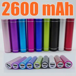 Wholesale External Power Banks - Fashionable aluminum Lipstick 2600 mAh Power Bank Portable Backup External Battery USB Mobile charger Mobile Power Supply A-YD