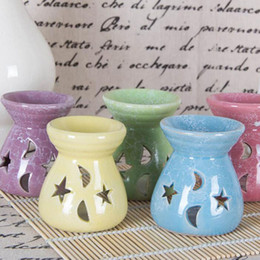 Forni in ceramica online-24 pz portalampada fragranza ceramica cava opere d'arte incensiere luce aromaterapia olio bruciatore di incenso candela forno home decor ZA6241