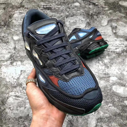 Wholesale marines sports - 2018 Hottest Originals x Raf Simons Ozweego 2 II Night Marine Blue Running Shoes Sports Sneakers For Men Authentic BY9866 With Box 40-44