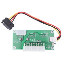 Ordinateur de bureau ATX 24 broches Dual PSU Power Câble de rallonge de démarrage synchrone pour Bitcoin Mining Expanded Ded avec commutateur manuel ? partir de fabricateur