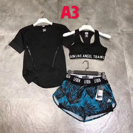 5cad3fa945 New Fashion Tracksuit Women Summer Sport Wear Cotton Yoga Suit Fitness Bra Shorts  Gym Top Vest Pants Running Underwear 3Sets Runner Outfits