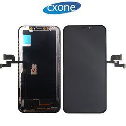 2019 schermata lcd per mega della galassia La nuovissima qualità più alta per la sostituzione del touch screen per LCD Digitizer per iPhone X con un buon 3D Touch Spedizione gratuita