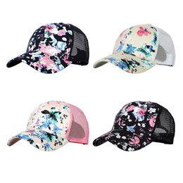 tennis flowers Canada - Printed flower duck hat unisex outdoor hat spring summer tennis cap