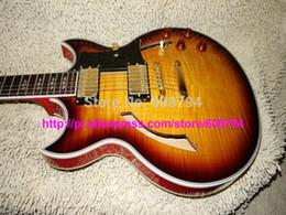 schiff benutzerdefinierte hohlkörper gitarren Rabatt Benutzerdefinierte Hohlkörper Johnny Eine Jazz-E-Gitarre IN Sunburst Custom jede Farbe Gitarren China Factory Kostenloser Versand