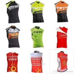 chalecos de bajo precio Rebajas NW COFIDIS equipo Ciclismo Chaleco sin mangas Chaleco 100% poliéster Buena calidad y bajo precio Acepta chaleco custom 840427
