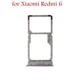 Carta sd di colore rosa online-per Xiaomi Redmi Supporto per schede 6 Micro SIM Nano SIM Supporto per schede SD per Xiaomi Redmi6 Parti di ricambio