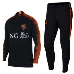 Wholesale high quality jackets - 2018 High quality World Cup The new Dutch football jacket, 2018-2019 season clothes football training suit Free Shipping And Wholesale