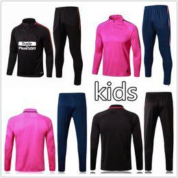 Wholesale Boys Brown Jacket - 2018 NEYMAR JR DI MARIA CAVANI training suit tracksuit kids soccer Jerseys kit 17 18 top GRIEZMANN chandal jogging football jacket