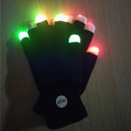 Los guantes de destello 7 partido del color llevaron los guantes encendidos del juguete El traje de Halloween que brillaba el guante llevó la luz del dedo encienden goves para el concierto de la música del partido desde fabricantes