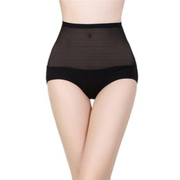 Wholesale Body Sharper - Sexy Women High Waist Briefs Body Shaping Panties Seamless Bamboo Fibre Gauze Trigonometric Panties Slim Sharper Underwear
