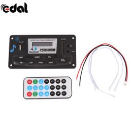 Wholesale Usb Bluetooth Module - EDAL 4.0 Bluetooth MP3 Decoding Board Module LED 12V DIY USB SD MMC APE FLAC WAV Decoder Record MP3 Player AUX FM Folders Switch