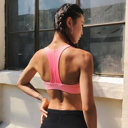 бюстгальтеры Скидка Русалка кривая женщины высокая прочность противоударный T-Тип ремни спортивный бюстгальтер йога работает пуш-ап мягкий тренировки Фитнес бюстгальтеры топ