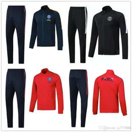 Wholesale training jogging jackets - 17 18 PSG NEYMAR JR jacket sets Training suit 2017 2018 adult MBAPPE DI MARIA CAVANI VERRATTI LUCAS MATUIDI jogging jackets
