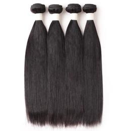 Extensões remy baratas do cabelo on-line-Ishow Cabelo Humano 9A Cabelo Brasileiro Bundles Reta 4 pcs Atacado Barato Não Transformados Remy Do Cabelo Humano Weave Extensões Cor Natural
