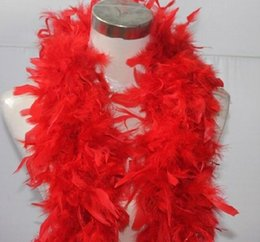 Pavo marabú pluma online-Pink Chandelle Feather Boa 200 cm / pcs Wrap Burlesque Can Can Saloon Sexy Accesorio de vestuario Turquía Marabou Feather Boa muchos colores disponibles