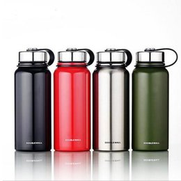 Wholesale Vacuum Water Flask - 800ML Stainless Steel Thermos Vacuum Flask Water Bottle Sports kettle Wide Mouth big capacity travel water bottles