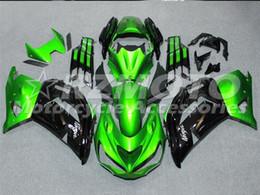 2019 zx14 carenados rojos Tres hermosas regalo de regalo nuevas placas de carenado ABS de alta calidad para Kawasaki Ninja ZX-14R 2012-2016 Ninja ZZR1400 2012 2016 Negro Verde W11