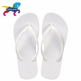 Wholesale Pool Houses - Hotmarzz Women Summer Beach Sandals Slim Flip Flops White Rubber Slippers Designer Brand Shoes Slides 2017 House Pool Slippers