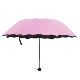 2018 New Creative Gifes Compact Travel Umbrella Windproof 8Ribs Gentle Colorful Three-folded Arched Umbrella With Black Coating