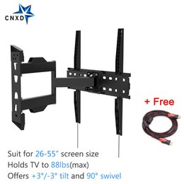 """Wholesale tv 55 led - Full Motion Articulating Tilt Swivel TV Wall Mount Bracket for 26-55""""LED LCD TV VESA up to 400 x 400 with Free HDMI Cable"""