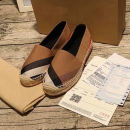2019 caixa de luxo artesanal [Caixa Original] Moda de Luxo Mulheres Plano Pescador Artesanal Bombas Vestido Design Slip-On Sapatos Calçado Tamanho 35-40 caixa de luxo artesanal barato