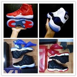 Wholesale bonds discount - 2017 Wholesale discount 11 High Gym Red Midnight Navy 11S unisex Basketball Shoes Top quality Athletic Sport Sneakers 36-47