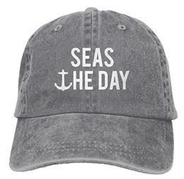 Canada Seas The Day Bateau Ancre Capitaine Chapeau en coton réglable Multicolore en option supplier adjustable captain hat Offre