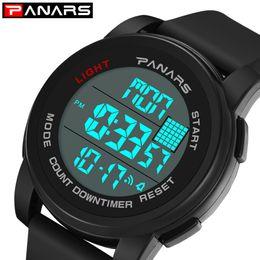 Cronógrafo Sport LED Watch Hombres 12/24 Horas Cronómetro Running Outdoor Male Alarm Relojes Digitales Horloge Man Clock 8104 desde fabricantes