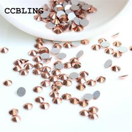 Chiodo a caldo art online-ss3 -ss30 piatto posteriore di cristallo oro rosa 3d nail art decorazioni in cristallo) non hot fix colla su strass per unghie pietra